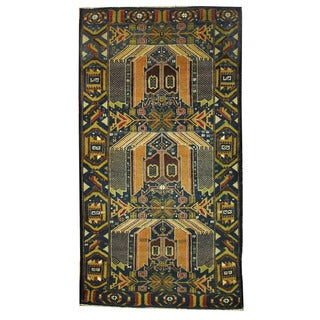 Herat Oriental Afghan Hand-knotted Tribal Balouchi Wool Rug (3'6 x 6'5)