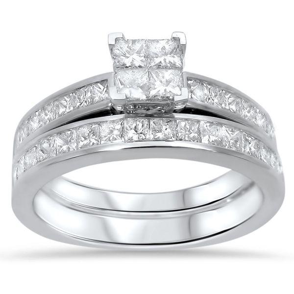 Shop Noori 14k White Gold 1 2 5ct Tdw Princess Cut Diamond