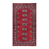 Herat Oriental Pakistani Hand-knotted Bokhara Wool Rug (2'4 x 4'1) - 2'4 x 4'1