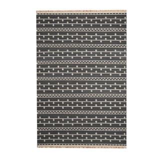 Link to Handmade Vegetable Dye Wool Kilim Rug (India) - 5'6 x 8' Similar Items in Rugs