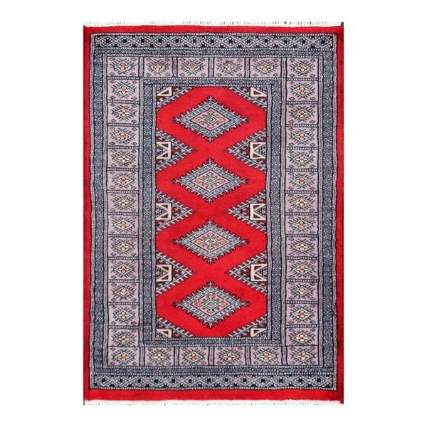 Pakistan Mori Bokhara Rug In Red: Shop Handmade Herat Oriental Pakistani Bokhara Wool Rug