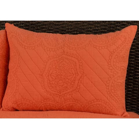 Rizzy Home Moroccan Orange Fling Sham