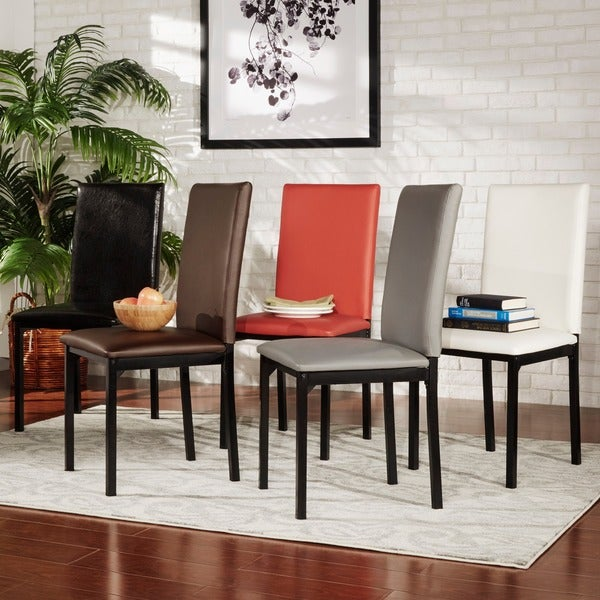 Darcy espresso metal upholstered dining chair by inspire q for Inspire q dining room chairs