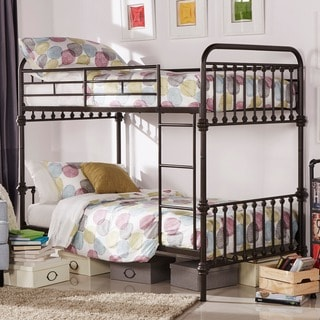 INSPIRE Q Regency Antique Dark Bronze Graceful Lines Iron Metal Bunk Bed