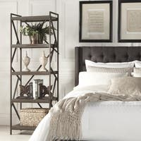 Lincoln Metal Distressed Brown Bookshelf Media Tower by iNSPIRE Q Classic