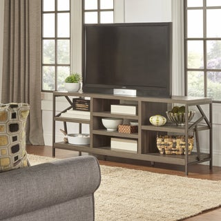 TRIBECCA HOME Lincoln Metal Accent Storage Media Console