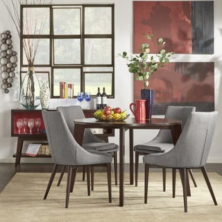 Sasha Brown Angled Leg Round 5-piece Dining Set iNSPIRE Q Modern (2 options available)