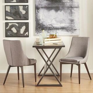 MID-CENTURY LIVING Sasha Brown Barrel Back Side Chair (Set of 2)