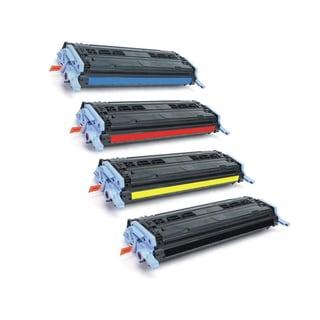 HP Q6000A Q6001A Q6002A Q6003A Toner Black Cyan Magenta Yellow Compatible Toner Cartridge 1600 2600N CM1017 MFP (Pack of 4)