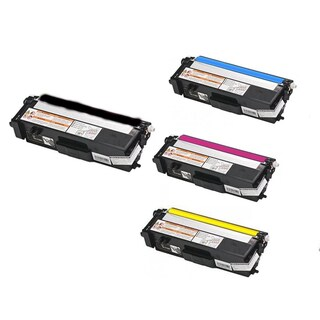 Compatible Brother TN315/ HL-4570CDW/ HL-4570CDWT/ MFC-9460CDN/ MFC-9560CDW Black, Cyan, Yellow, Magenta Cartridges (Pack of 4)