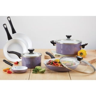 Farberware PURECOOK Lavender Ceramic Nonstick Cookware 12-piece Cookware Set