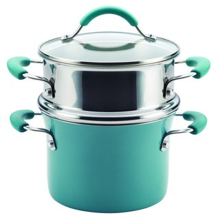 Rachael Ray Cucina Hard Enamel Nonstick 3-quart Covered Multi-pot Set with Steamer (2 options available)