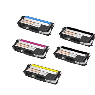 Compatible Brother TN315/ HL-4570CDW/ MFC-9460CDN/ MFC-9560CDW 2 Black, 1 Cyan, 1 Yellow, 1 Magenta Toner Cartridges (Pack of 5)