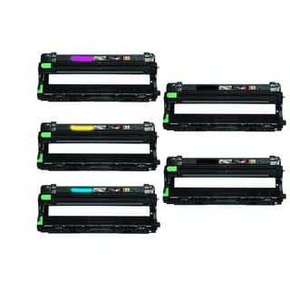Compatible Brother DR221/ MFC-9330CDW/ HL-3140CW/ MFC-9130CW 2 Black, 1 Cyan, 1 Yellow, 1 Magenta Drum Cartridges (Pack of 5)