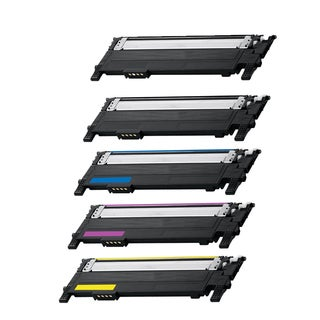Samsung 2 x CLT-K406S + CLT-C406S + CLT-M406S + CLT-Y406S Compatible Toner Cartridge For CLP-360 CLP-365W (Pack of 5)