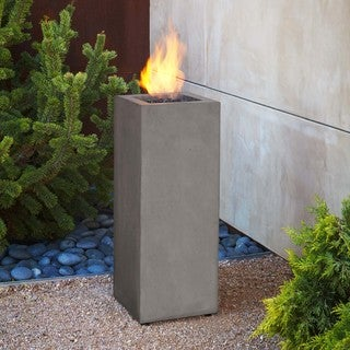 Real Flame Baltic Fire Column -Glacier Grey