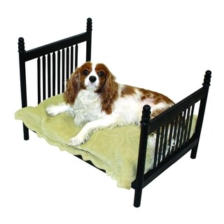 Textured Black Iron Slat Design Pet Bed