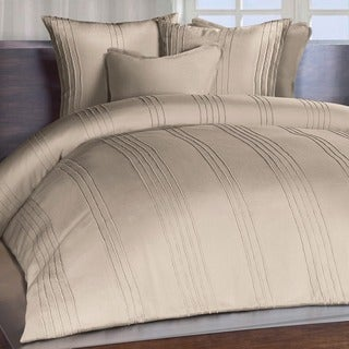 Chauran Avalon Sand Beige Ridge Stitched Duvet Cover