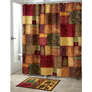 Adirondack Pine Shower Curtain Curtains For Less  Overstock com Vibrant Fabric Bath