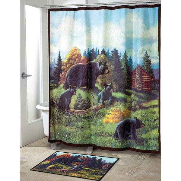 Black Bear Lodge Shower Curtain 17494517 Overstock Com Shopping Great Deals On Avanti