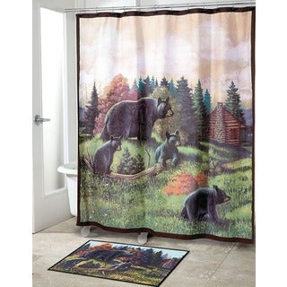 Black Bear Lodge Shower Curtain