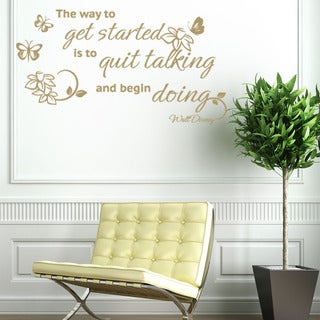 Quit Talking Quote Phrases Wall Decal