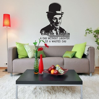 A Day Without Laughter Is A Wasted Day' Charlie Chaplin Quote Wall Decal