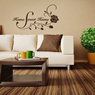 Home Sweet Home Quote Phrases Wall Decal