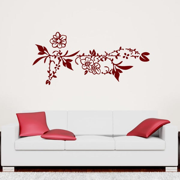 Flower Border Floral Wall Decal