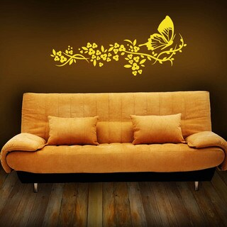 Butterfly Floral Wall Decal