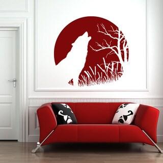 Howling Wolf Animal Vinyl Wall Art