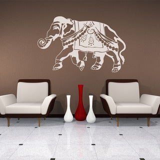 Indian Elephant Animal Vinyl Wall Art