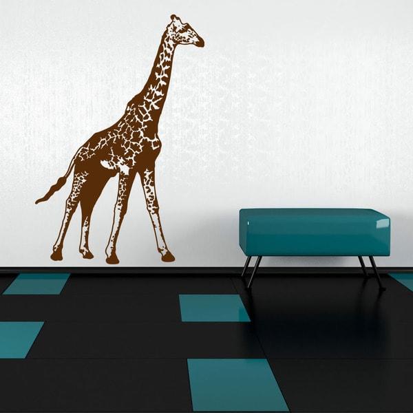 shop giraffe animal vinyl wall art - free shipping today - overstock