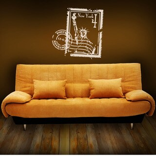 New York Stamp World Vinyl Wall Art (2 options available)