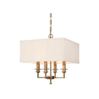Hudson Valley Berwick 4-light Chandelier, Aged Brass