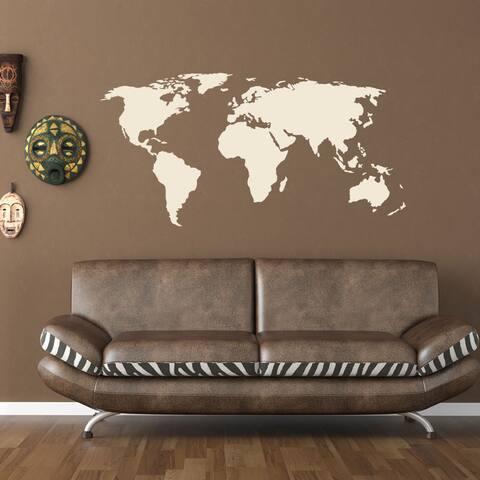 World Map World Vinyl Wall Art