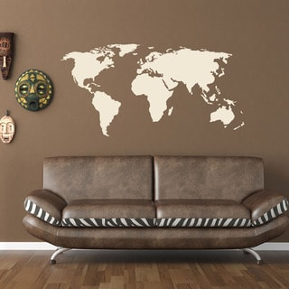 World Map World Vinyl Wall Art