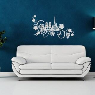 Paris Floral World Vinyl Wall Art