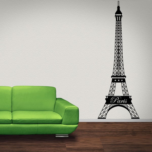 Paris Eiffel Tower Vinyl Wall Decal