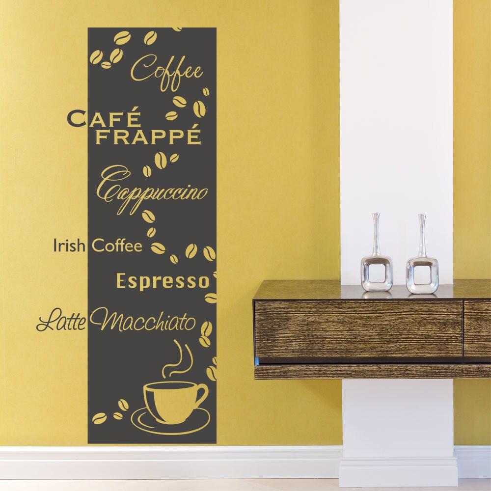 Coffee Types Coffee Vinyl Wall Art | eBay
