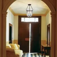 Hudson Valley Hampton 3-light 21 inch Semi Flush, Bronze / Diamond Cut