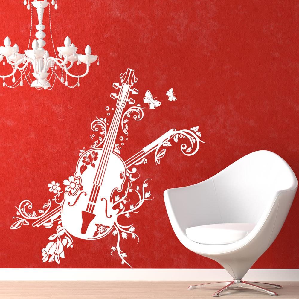 Style and Apply Bloosom Violine Music Vinyl Wall Art (46i...