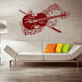 Cello Spring Melody Music Vinyl Wall Art