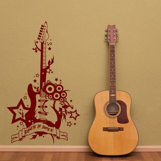 Rock 'n' Roll Guitar Music Vinyl Wall Art