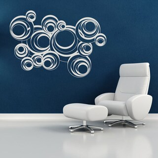 Retro Circles Modern Vinyl Wall Art