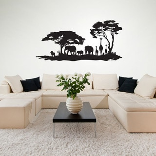 African Jungle Exotic Vinyl Wall Art