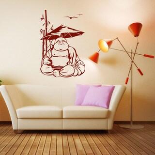 Happy Buddha Exotic Vinyl Wall Art