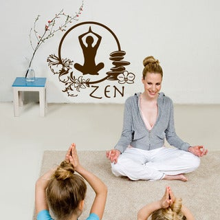 Zen Yoga Exotic Vinyl Wall Art