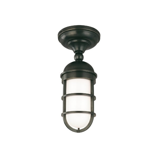 Hudson Valley Groton 1-light Semi Flush, Old Bronze