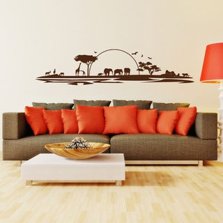 African Safari Vinyl Wall Art